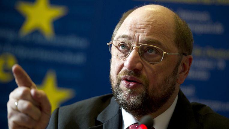 Martin Schulz, voorzitter van het Europees Parlement Beeld ap