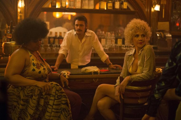 Pernell Walker, James Franco en Maggie Gyllenhaal in The Deuce. Beeld