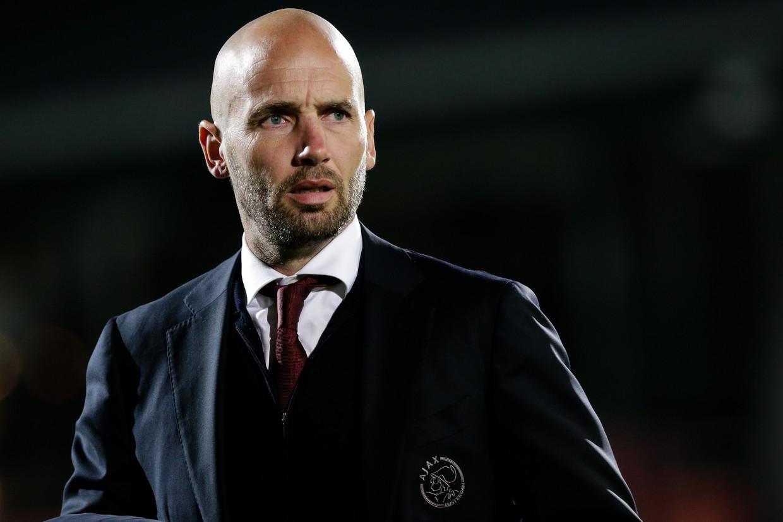 Mitchell van der Gaag blijft langer coach van Jong Ajax. Beeld BSR Agency