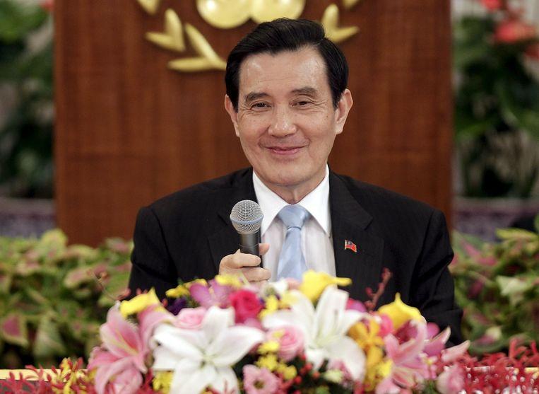 Ma Ying-jeou, president van Taiwan. Beeld reuters