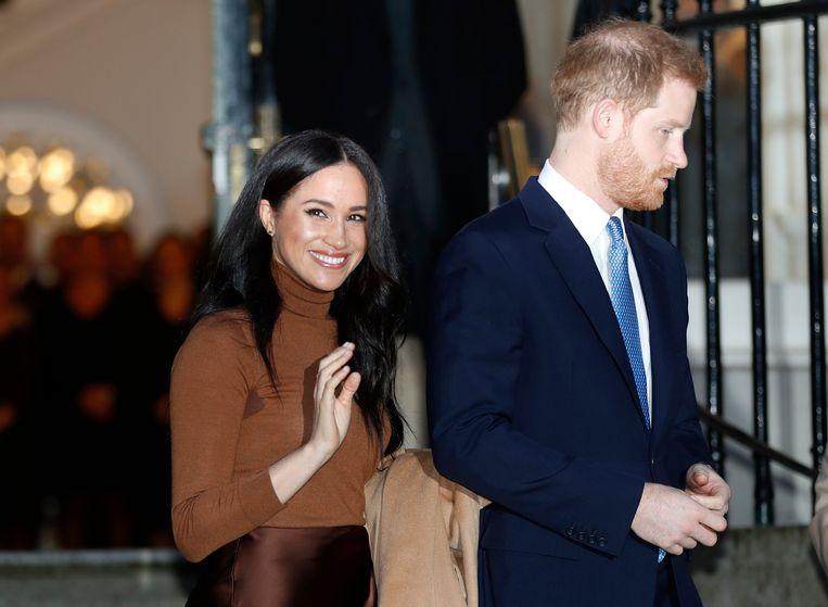 Meghan en haar echtgenoot Harry. Beeld AP