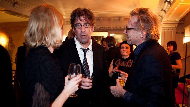 Joost Zwagerman (m) in 2011 tijdens de 60e editie van het jaarlijkse Boekenbal in de Stadsschouwburg in Amsterdam. Beeld ANP