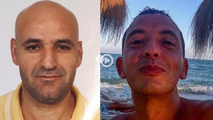 De meest gezochte criminelen van Nederland: rechts Ridoaun Taghi, links Said Razzouki.