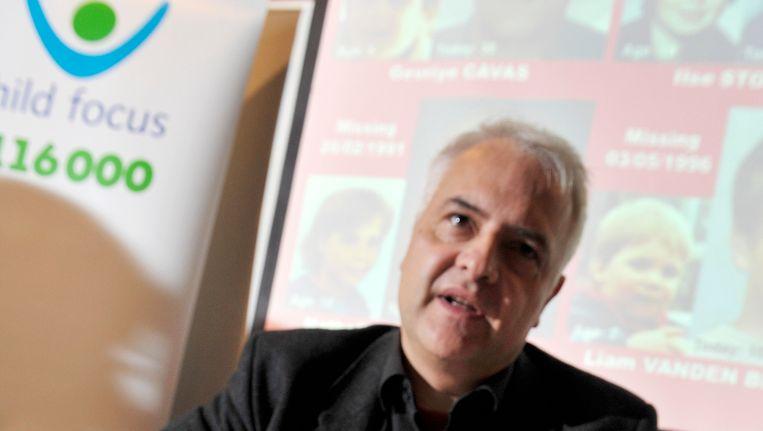 Woordvoerder van Child Focus, Dirk Depover.