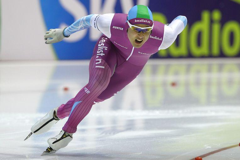 Kai Verbij, de Nederlands-Japanse schaatser reed vrijdag de 500 meter. Beeld Erik Pasman