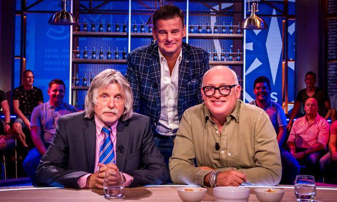 Wilfred Genee, Johan Derksen en René van der Gijp bij Veronica Inside.