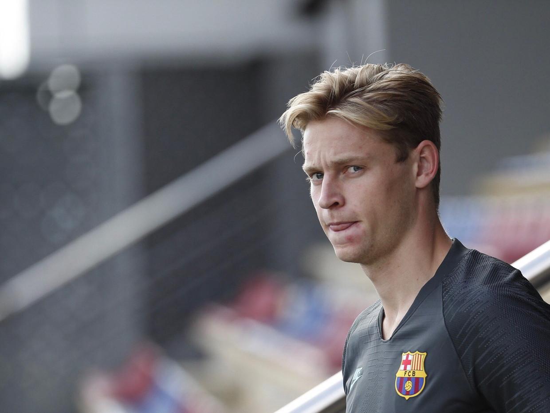 Frenkie de Jong in zijn Barcelona-shirt: 'Het kan nog beter'.