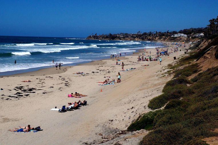 Strand in San Diego, Californië. Beeld anp