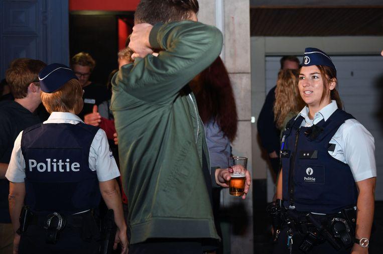 De Leuvense politie krijgt geregeld af te rekenen met agressie.