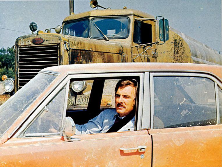 Dennis Weaver als David Mann in Duel. Beeld null