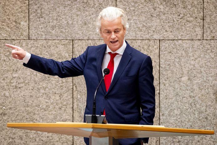 Geert Wilders in de Tweede Kamer.