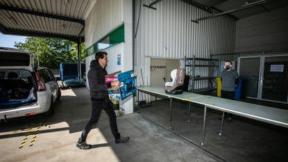 Kringwinkel Okazi opent tijdelijk extra brengerspunt