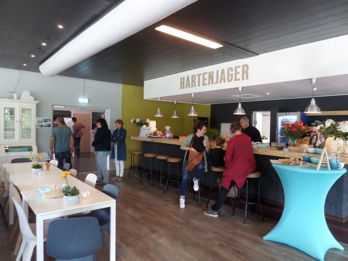 Hartenjager, het getransformeede restaurant in sporthal De Jager.