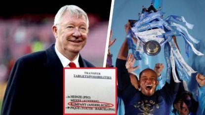 Bijna niet van City maar van United: Kompany stond op gelekt lijstje van Alex Ferguson