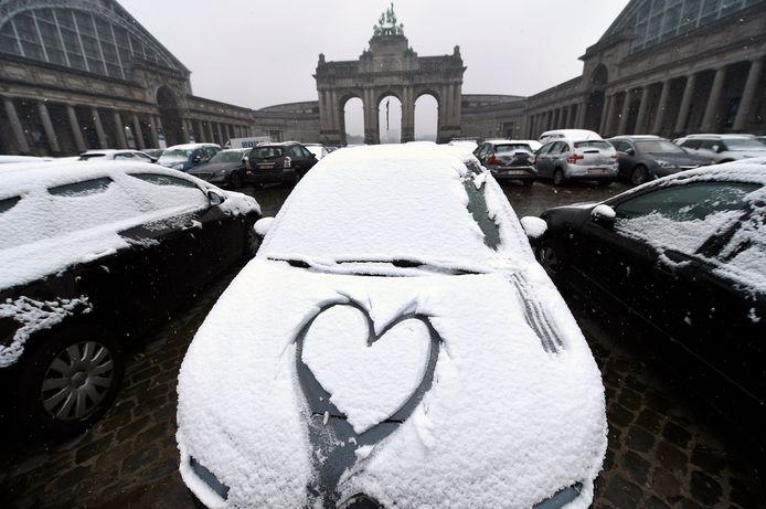 Een foto van eind januari 2019 in het centrum van Brussel.