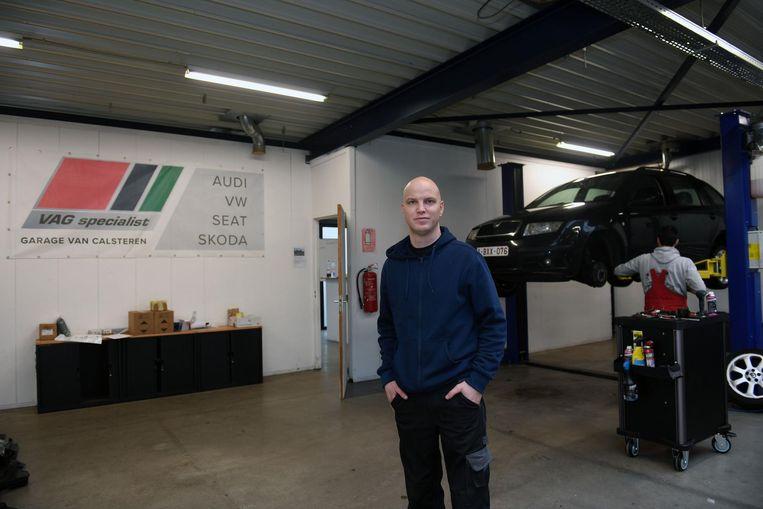 Kris Van Calsteren huurt nu een garage even verderop.