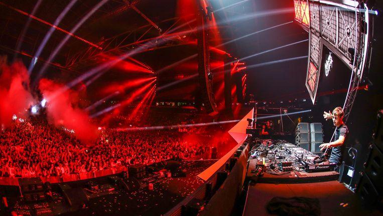 Dj Garrix op het Amsterdam Dance Event in 2014. Op de editie van dit jaar, in oktober, kan hij tot de nummer één van de wereld worden uitgeroepen. Beeld Rutger Geerling / Hollandse Hoogte