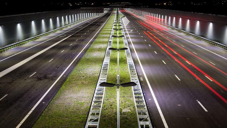 Het nieuwste stuk van de A4 ter hoogte van Schiedam Beeld anp