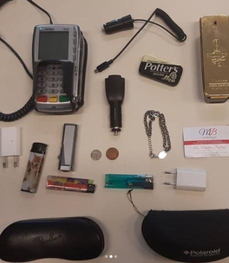 Osse politie zoekt eigenaren van gestolen pinautomaat, parfum, aanstekers, brillen en usb-sticks