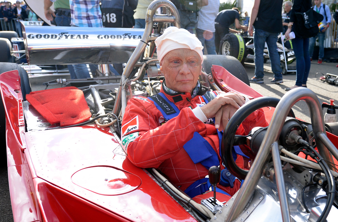 Niki Lauda in 2014 tijdens een legends race op de Red Bull Ring