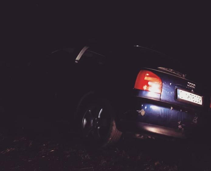 De auto die de politie aantrof