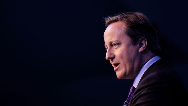 De Britse premier David Cameron heeft de onthoofding van David Haines veroordeeld als 'een daad van puur kwaad'. Beeld ap