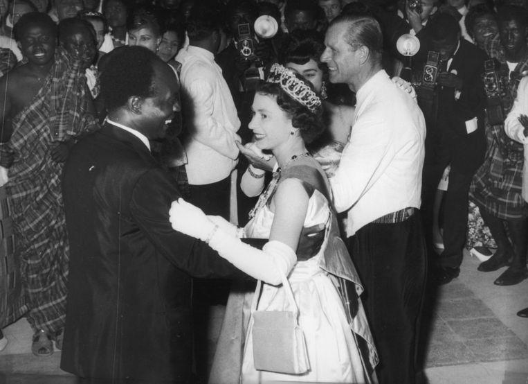 De echte Elizabeth in Ghana in 1961. Beeld Getty Images
