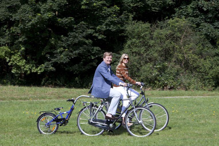 De Batavus-fiets waarop toenmalig kroonprins Willem-Alexander en prinses Máxima in 2012 poseerden is een geliefd exportproduct. Beeld Evelyne Jacq / HH