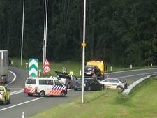 Ongeval met vier auto's op A73 bij Nijmegen