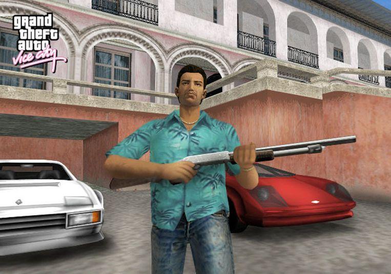 Beeld uit Grand Theft Auto: Vice City.