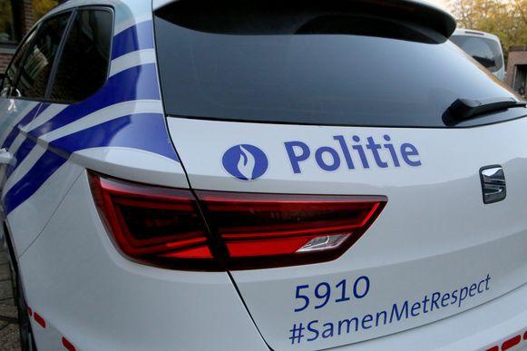 De politie kwam ter plaatse voor de nodige vaststellingen van het ongeval.