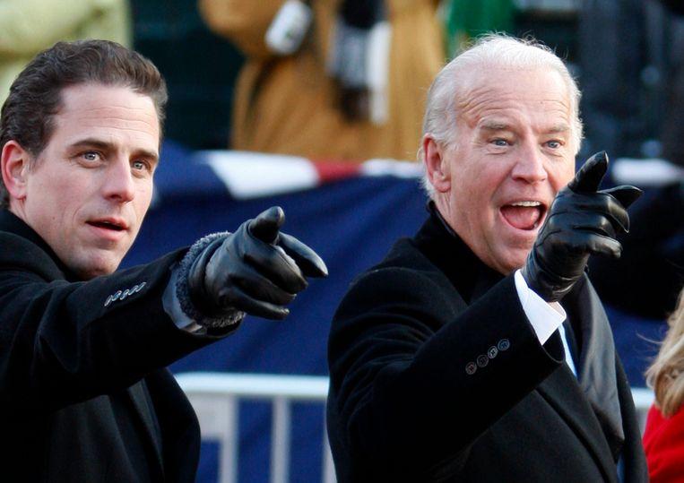 Joe (r) en Hunter Biden. Beeld REUTERS