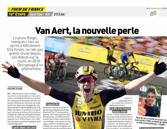Van Aert kreeg de nodige lof in L'Equipe.