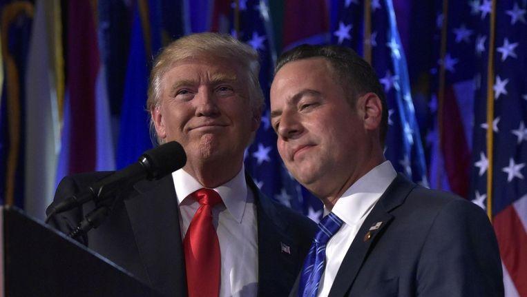 Reince Priebus en Donald Trump Beeld anp