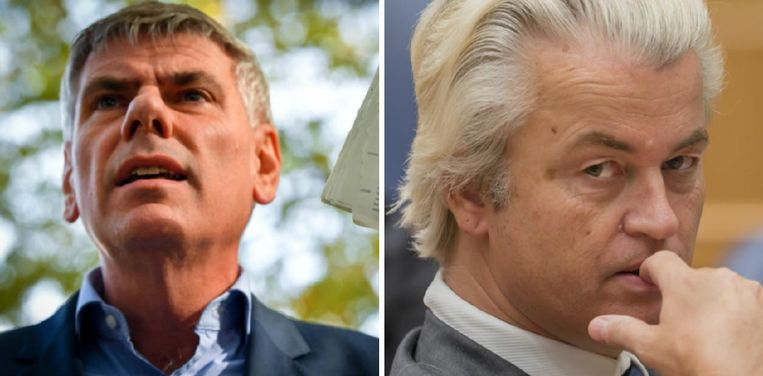 Links: Filip Dewinter. Rechts: Geert Wilders.