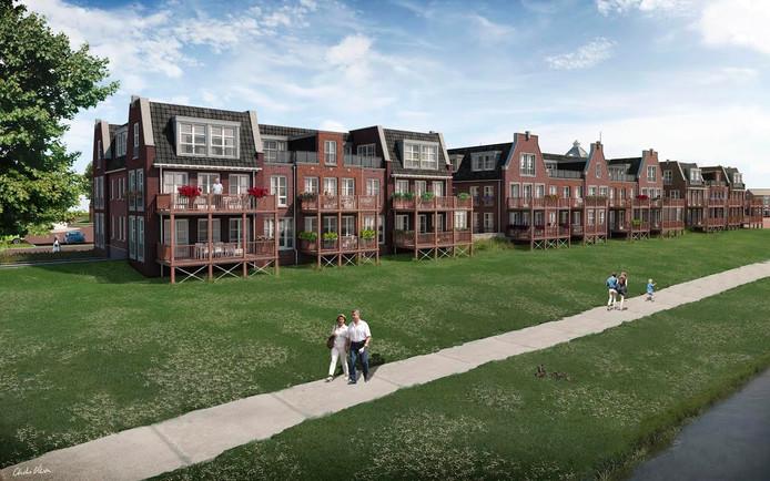 Projectontwikkelaar Artica begint volgende week in Ommen met de bouw van appartementen in de buurt van de Vecht.