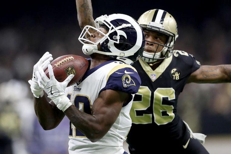 Zondag 3 februari spelen de Los Angeles Rams tegen de New England Patriots. Beeld ANP