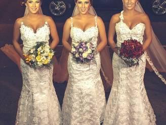 Als identieke drieling samen trouwt, raken zelfs hun mannen in de war