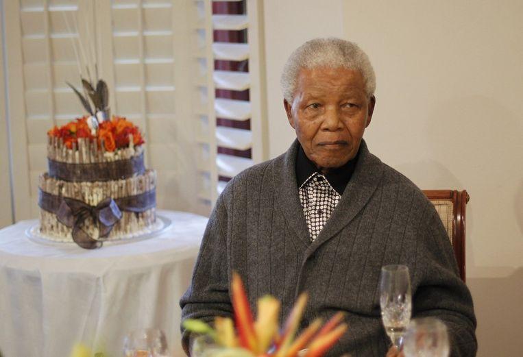Nelson Mandela vorige maand op zijn 94ste verjaardag.