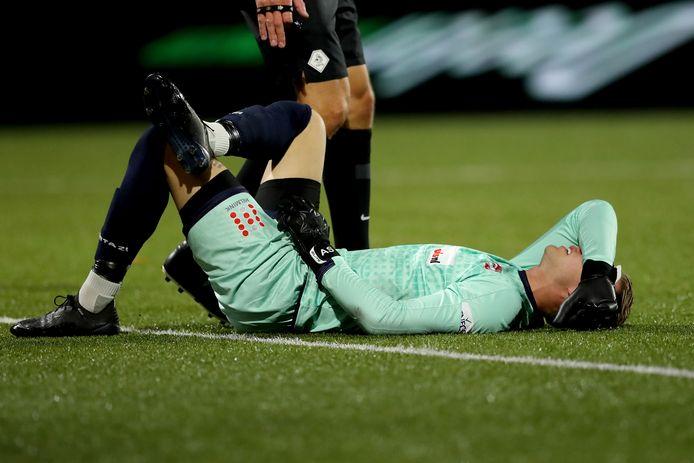 Verslagen keeper  Anthony Swolfs van FC Dordrecht