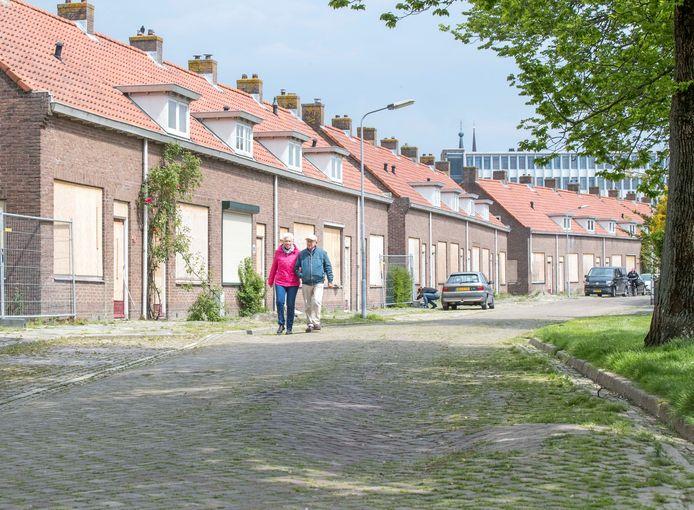 De dichtgetimmerde huizen in de Goese Naereboutstraat