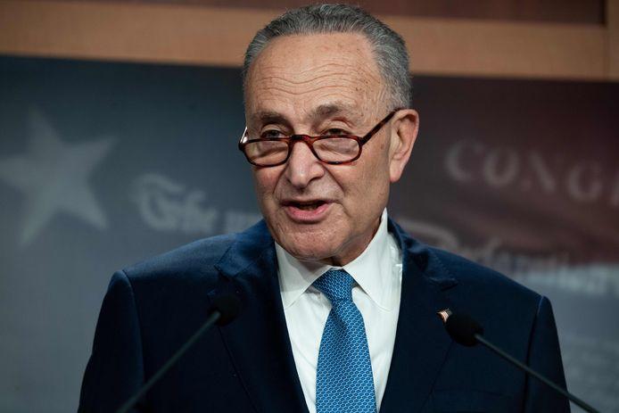 Chuck Schumer, leider van de Democraten in de Senaat.