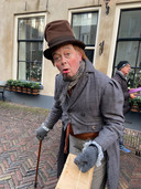 Trotty een van de hoofdrolspelers van het Dickens Festijn in Deventer.