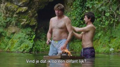 """Dieter Coppens amuseert zich te pletter in 'De Columbus': """"Wim, je lijkt een beetje op Baloe de beer"""""""