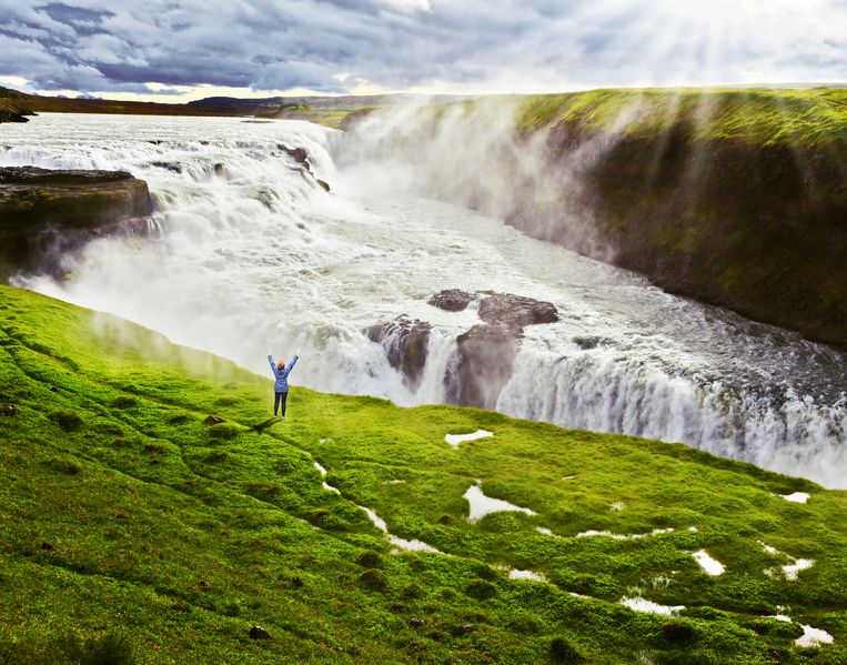 De indrukwekkende Gullfoss waterval