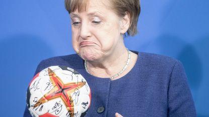 May bezoekt Macron en Merkel