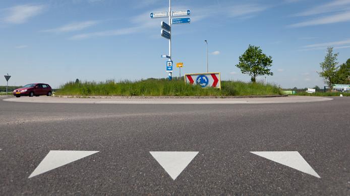 Rotonde op het bedrijventerrein in Heteren. Foto ter illustratie.