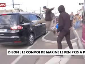 Le convoi de Marine Le Pen attaqué à Dijon