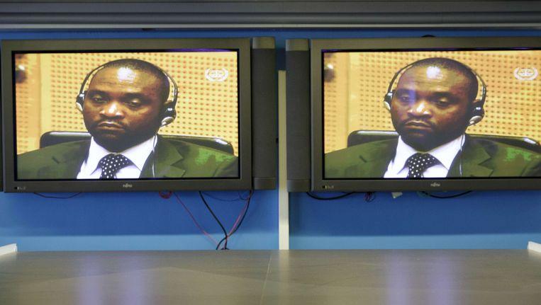 Germain Katanga in de rechtszaal. Beeld AFP