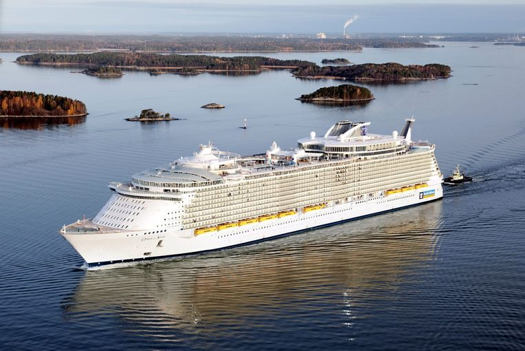 Een cruiseschip van Royal Caribbean cruise.